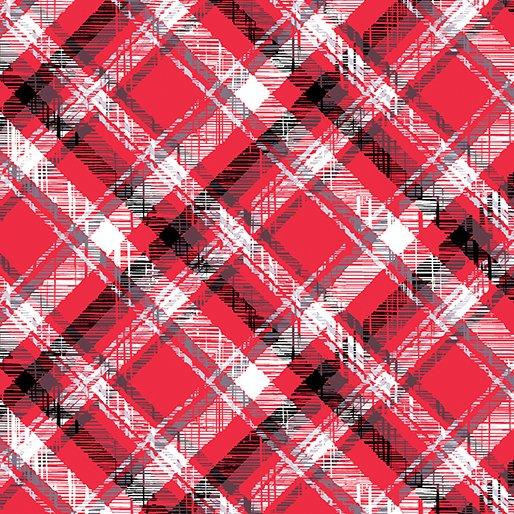 Scottie Love Flannel -Pet Plaid -Red