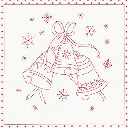 Yuletide Bells - Panel - Red