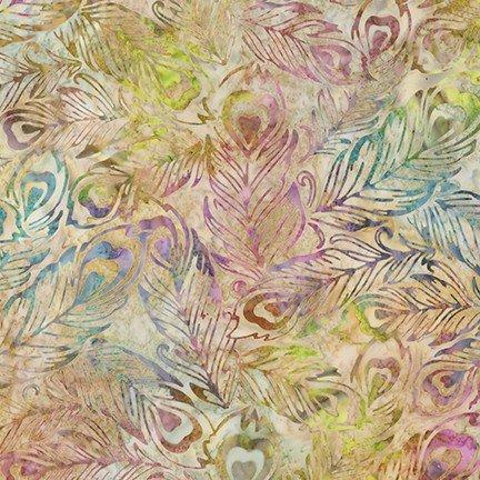 Artisan Batiks: Fancy Feathers 3 - Natural