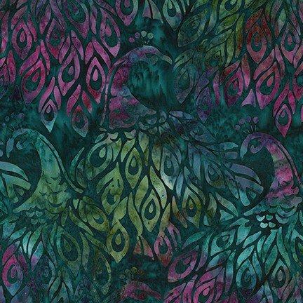 Artisan Batiks: Fancy Feathers 3 - Emerald