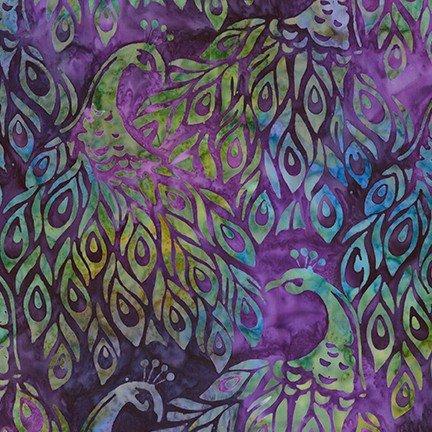 Artisan Batiks: Fancy Feathers 3 - Purple