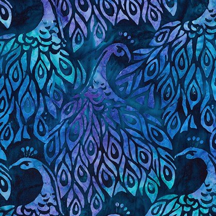 Artisan Batiks: Fancy Feathers 3 - Peacock