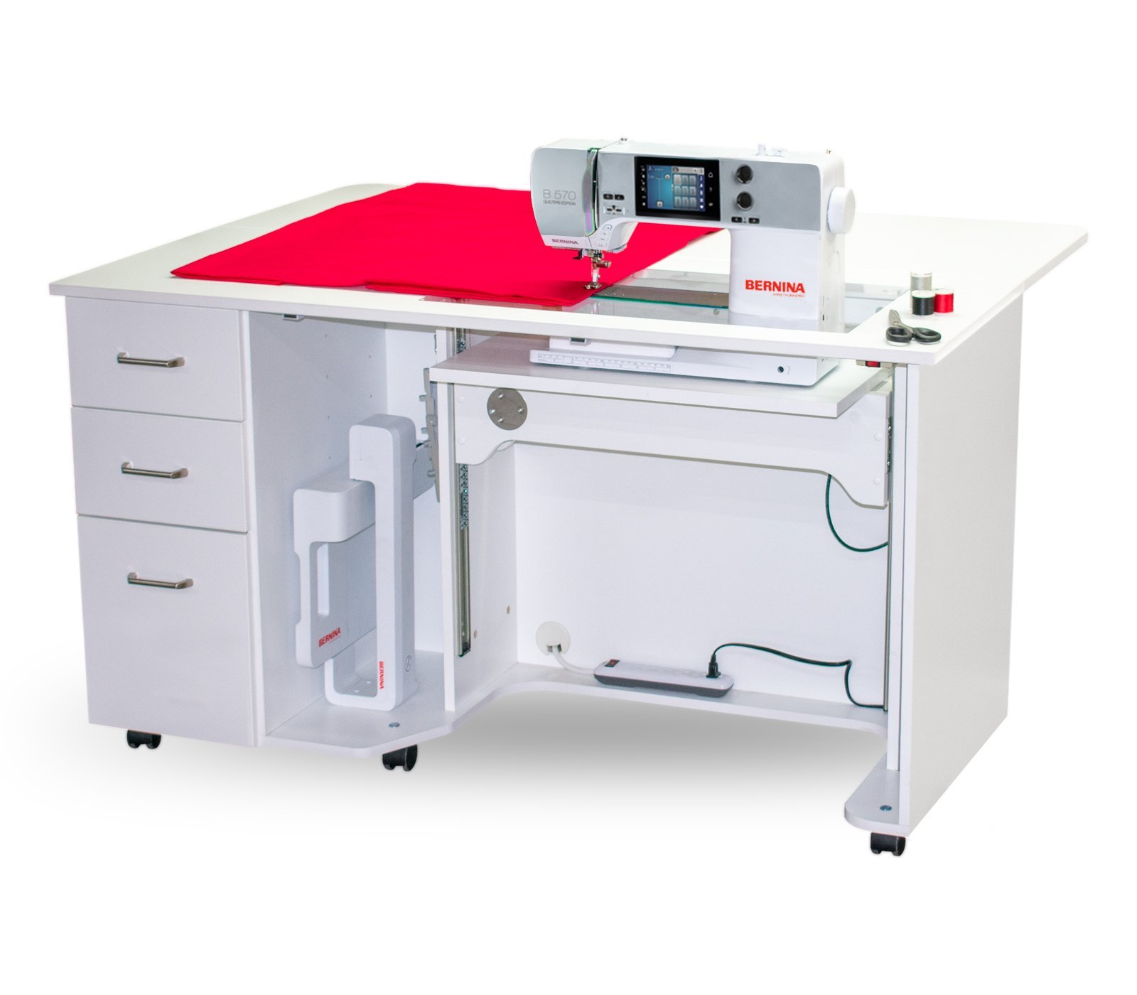 Bernina Sewing Table | Studio Horn 5/4 Series - White add shipping
