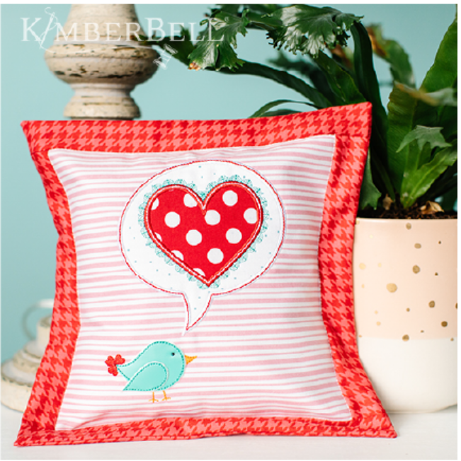 A Little Birdie Told Me Pillow Sewing Version