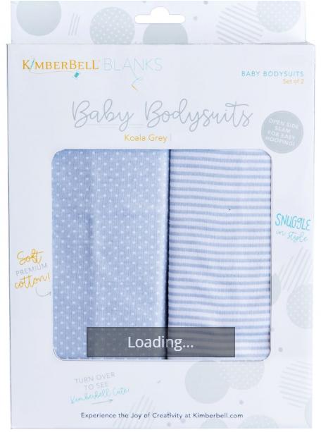 Baby Bodysuit - Koala Grey - 3 to 6 months