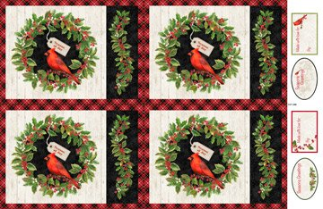 Cardinal Woods - Place Mat Panel