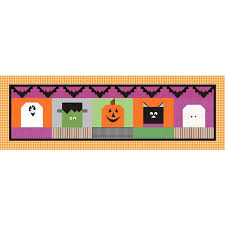 Halloween Blockheads Table Runner Kit