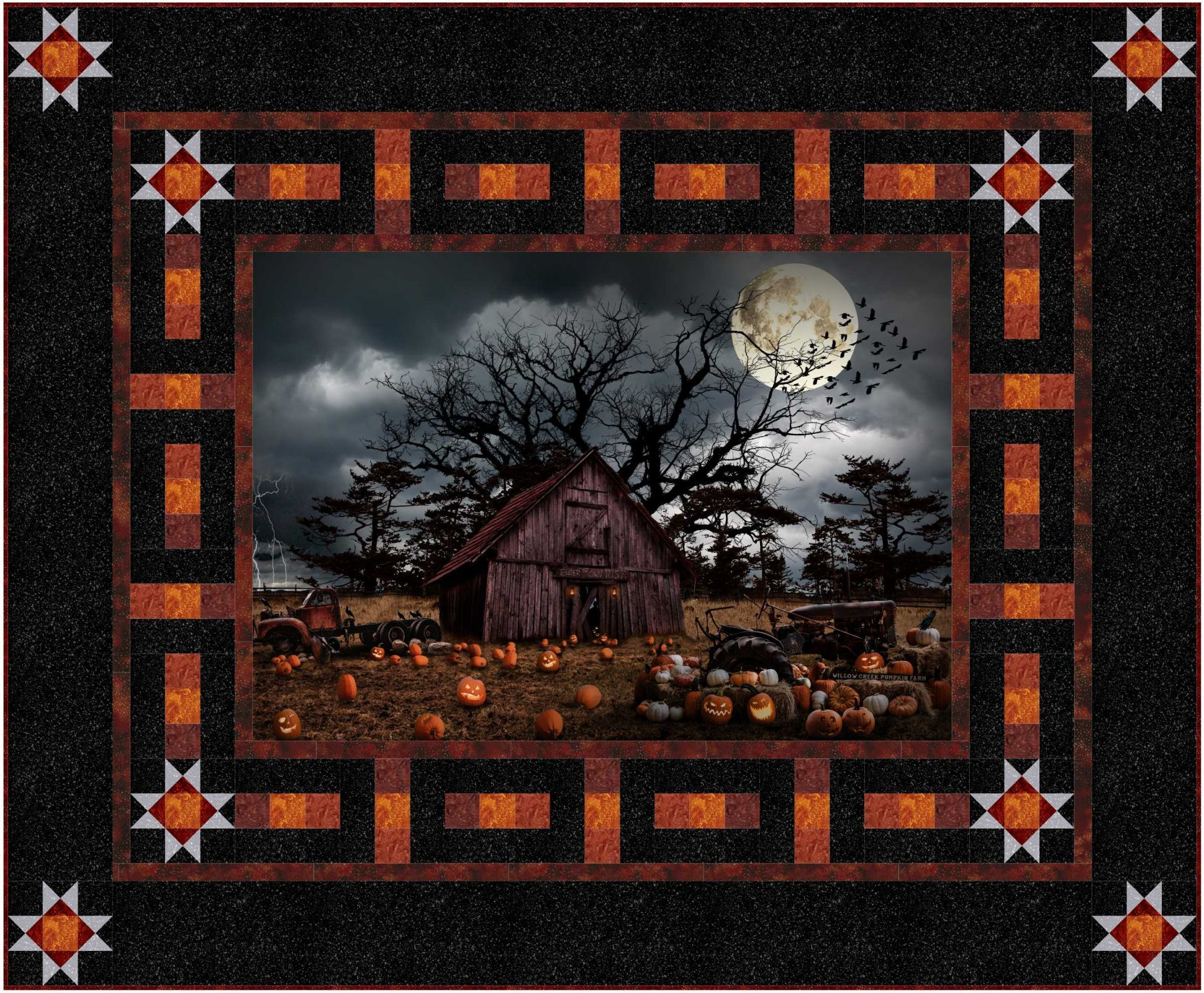 Haunted Starry Patch Quilt Kit