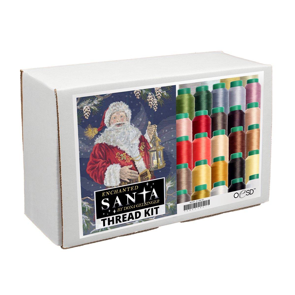 Enchanted Santa Thread Kit