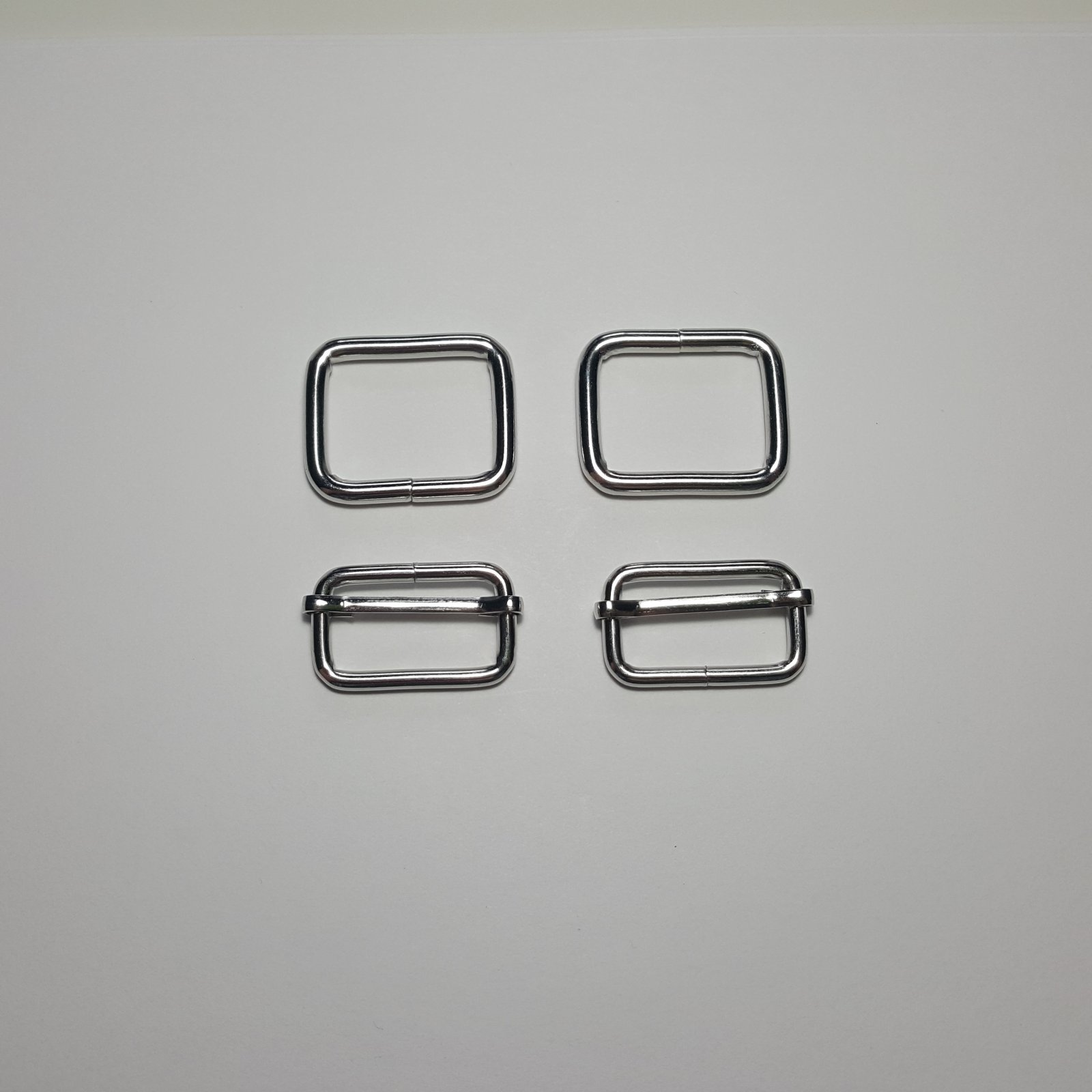 1- 2 Rectangle Rings + 2 Slides - Nickel