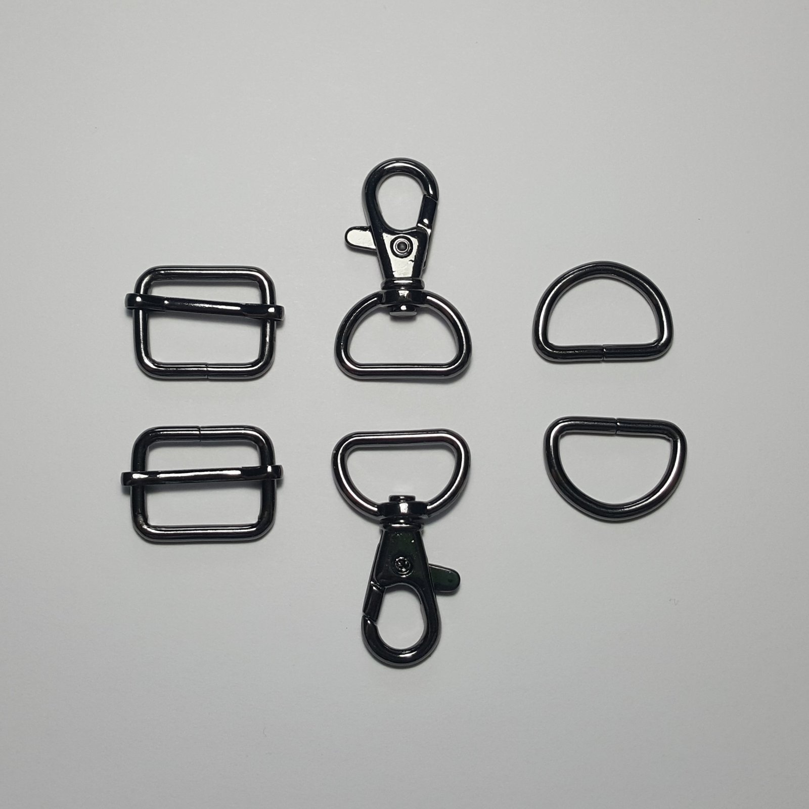 3/4- 2 D Rings + 2 Slides + 2 Swivels - Gunmetal