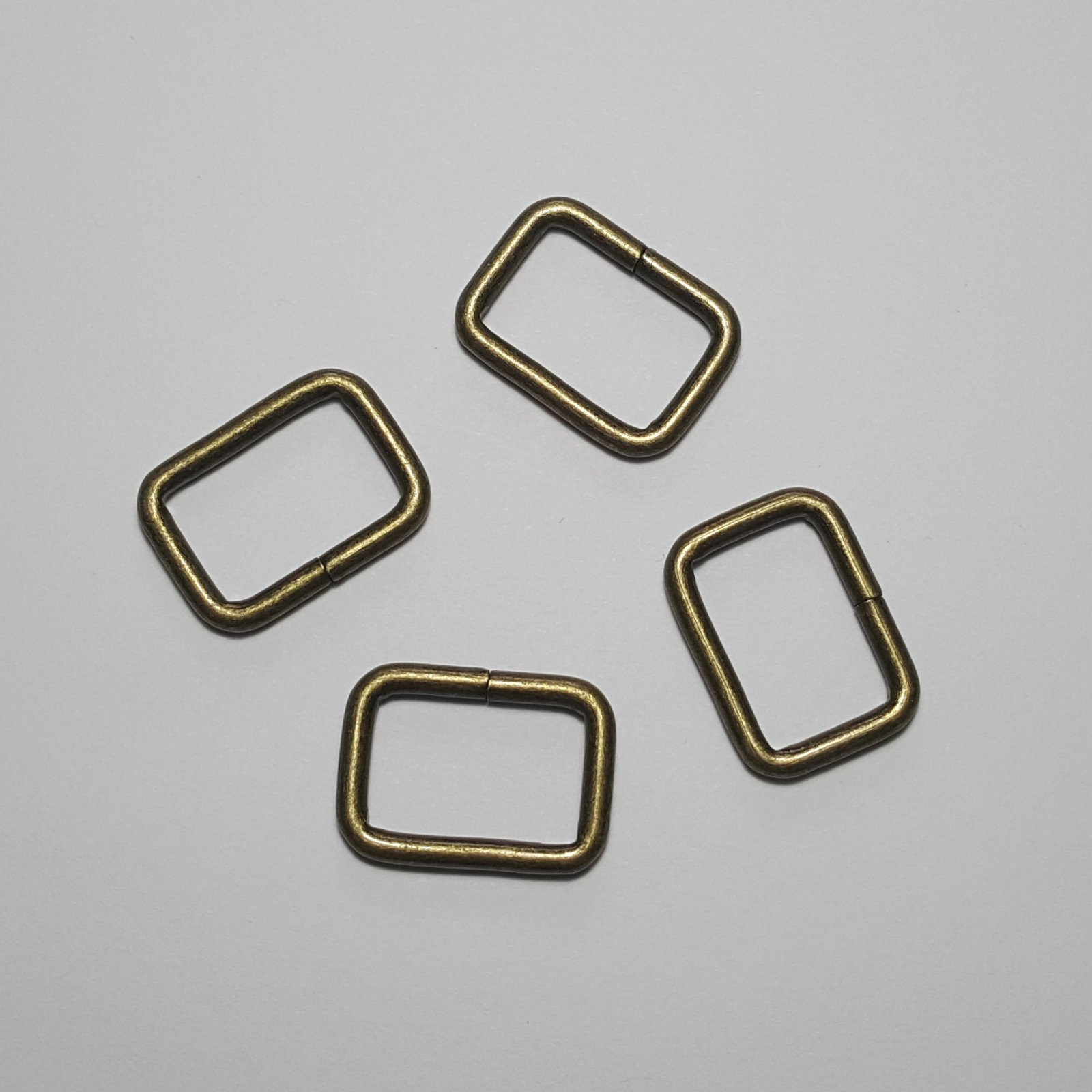 3/4- 4 Rectangle Rings - Brass