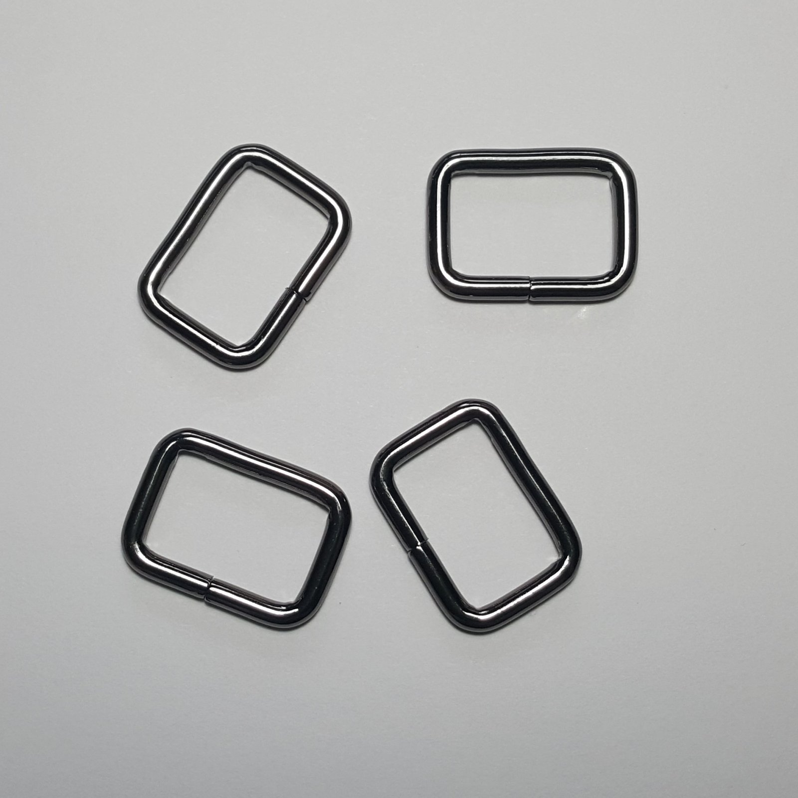 3/4- 4 Rectangle Rings - Gunmetal