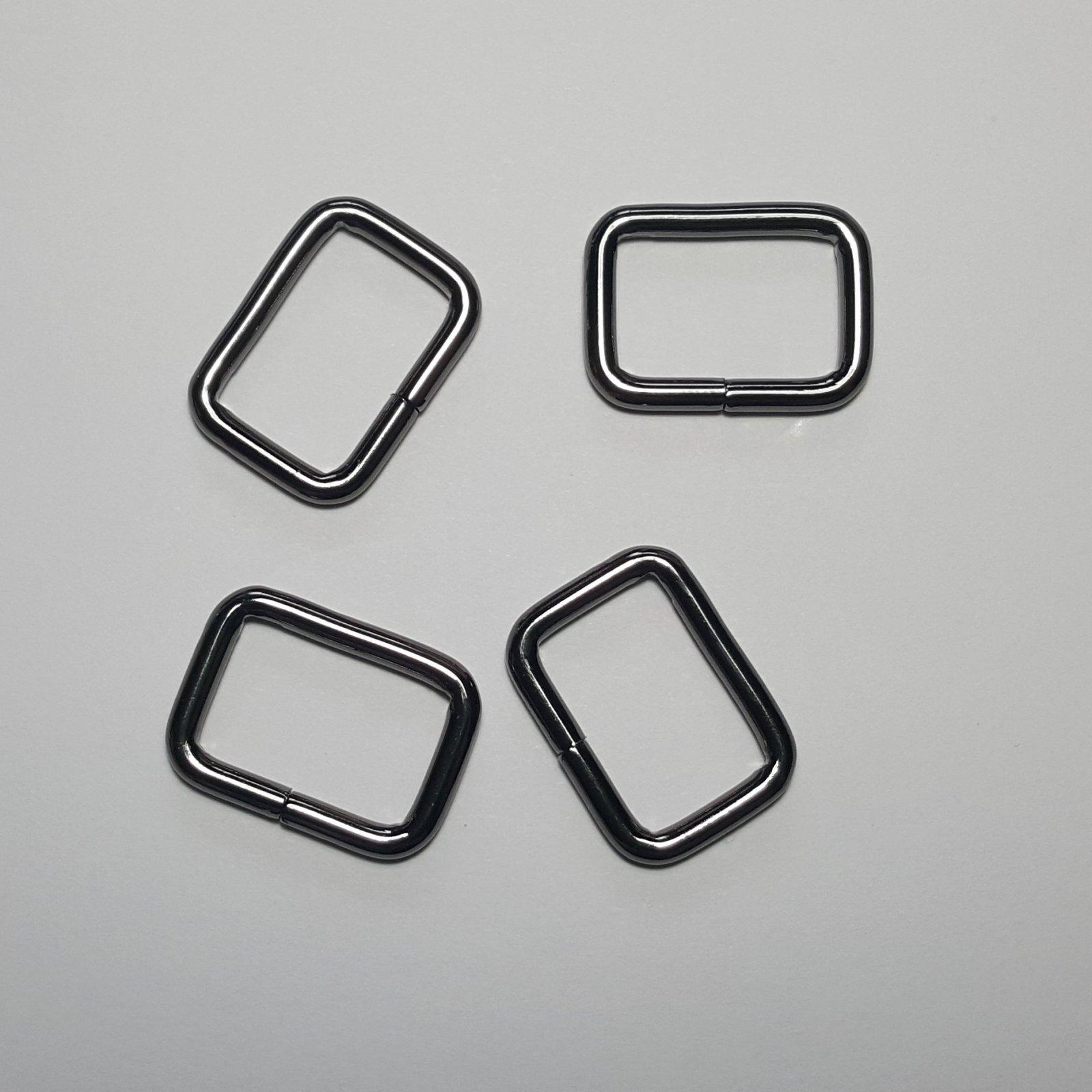 3/4- 4 Rectangle Rings - Gunmetal