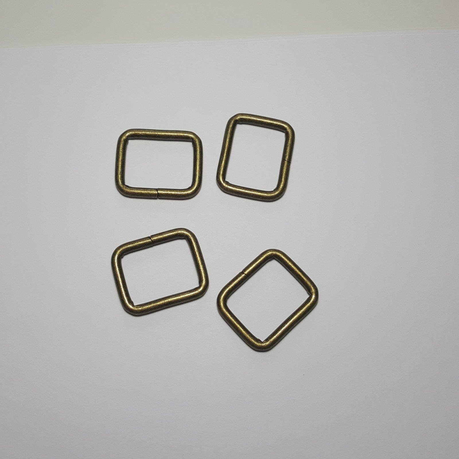 1- 4 Rectangle Rings - Brass