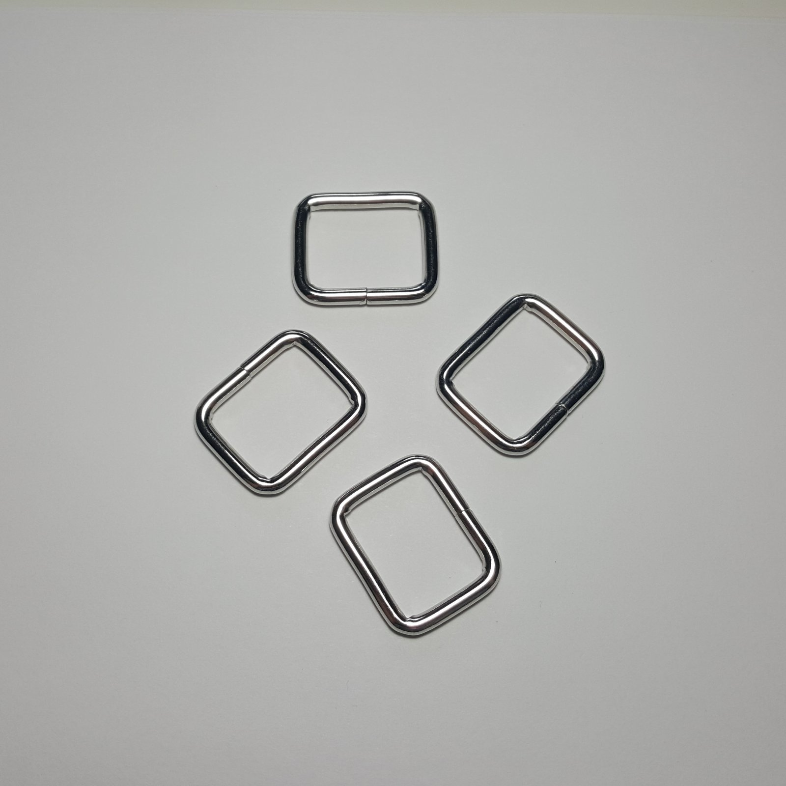 1- 4 Rectangle Rings - Nickel