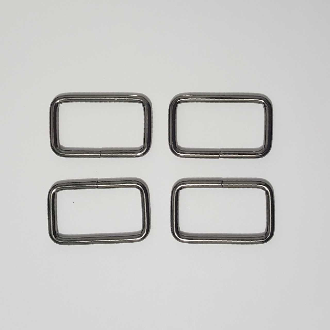 1.5- 4 Rectangle Rings - Gunmetal