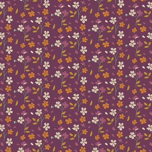 Autumn Vibes - Cozy Ditzy - Plum - Knit