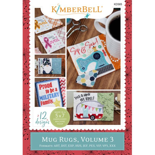 Kimberbell Mug Rugs Vol. 3 Machine Embroidery