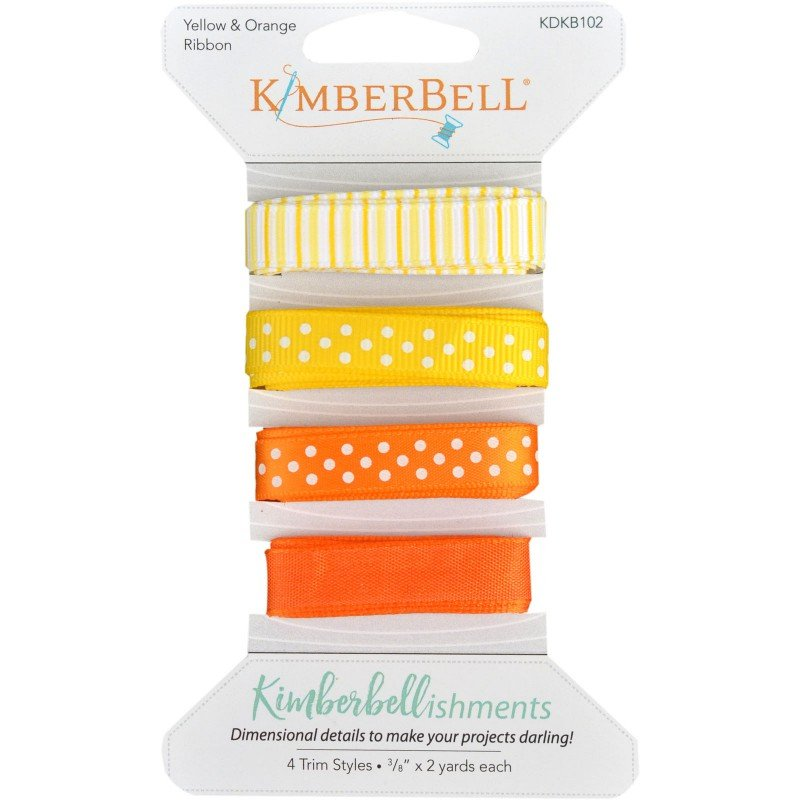 Kimberbellishments - Ribbon Assortment - Yellow and Orange