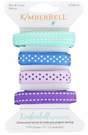 Kimberbellishments - Ribbon Assortment - Blue and Purple