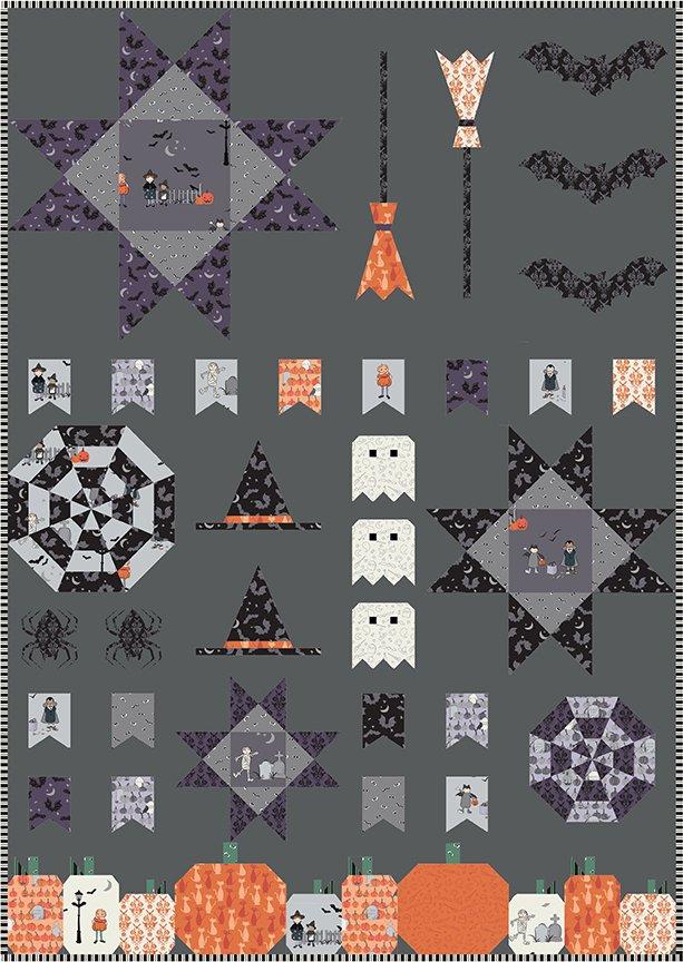 Spooky Sampler Quilt Kit