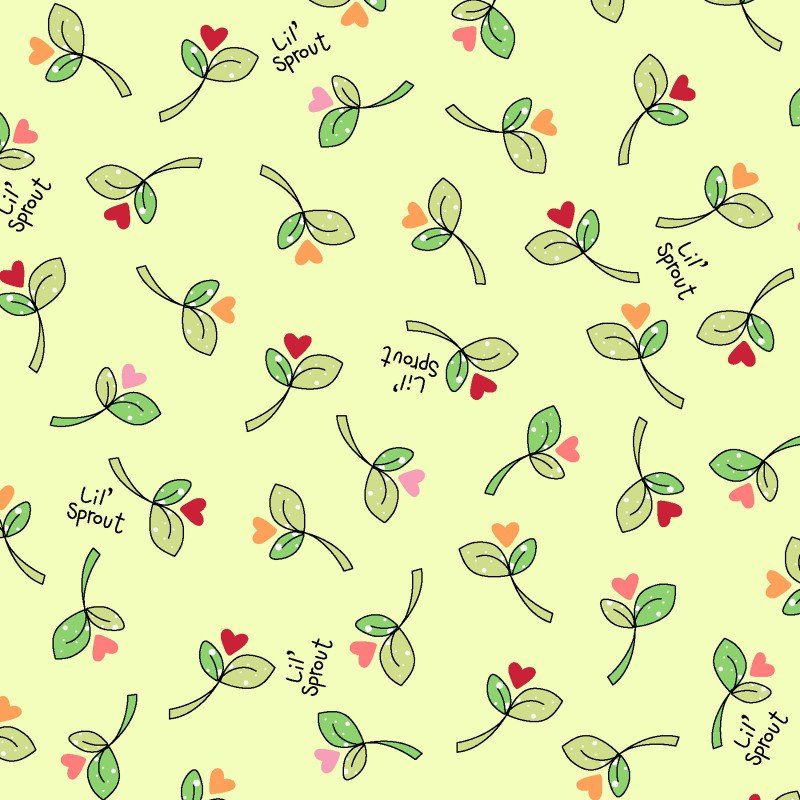 Lil' Sprout Flannel Too! - Sprouts N' Hearts - Green