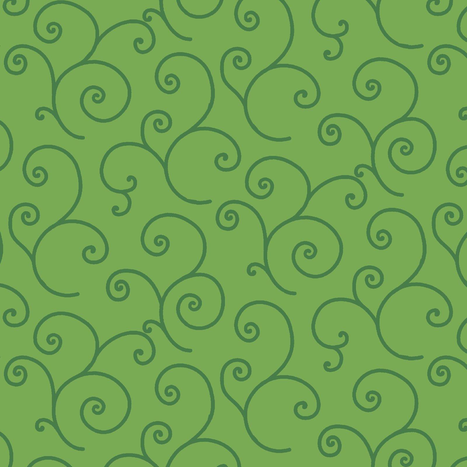 Kimberbell 108 Wide Back - Scroll - Green