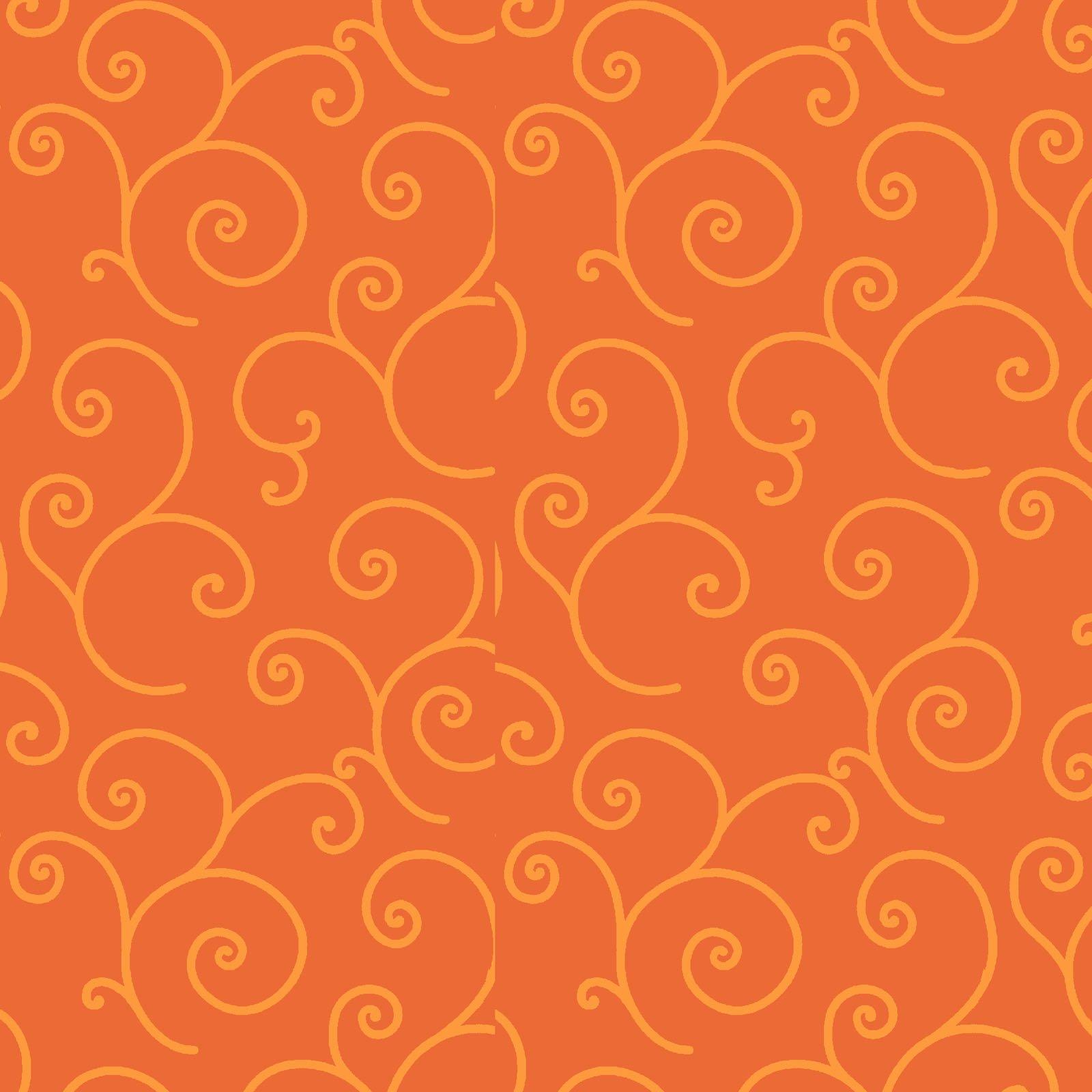 Kimberbell 108 Wide Back - Scroll - Orange