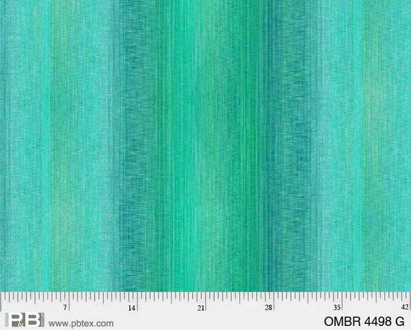 108 Wide Ombre - Teal