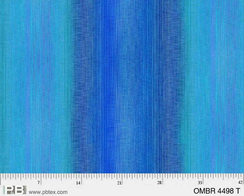 108 Wide Ombre - Blue
