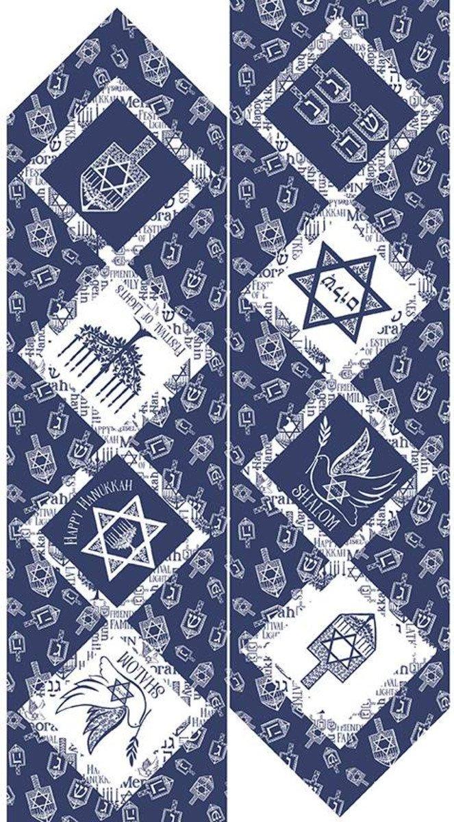 Festival of Lights - Table Runner Panel - Blue