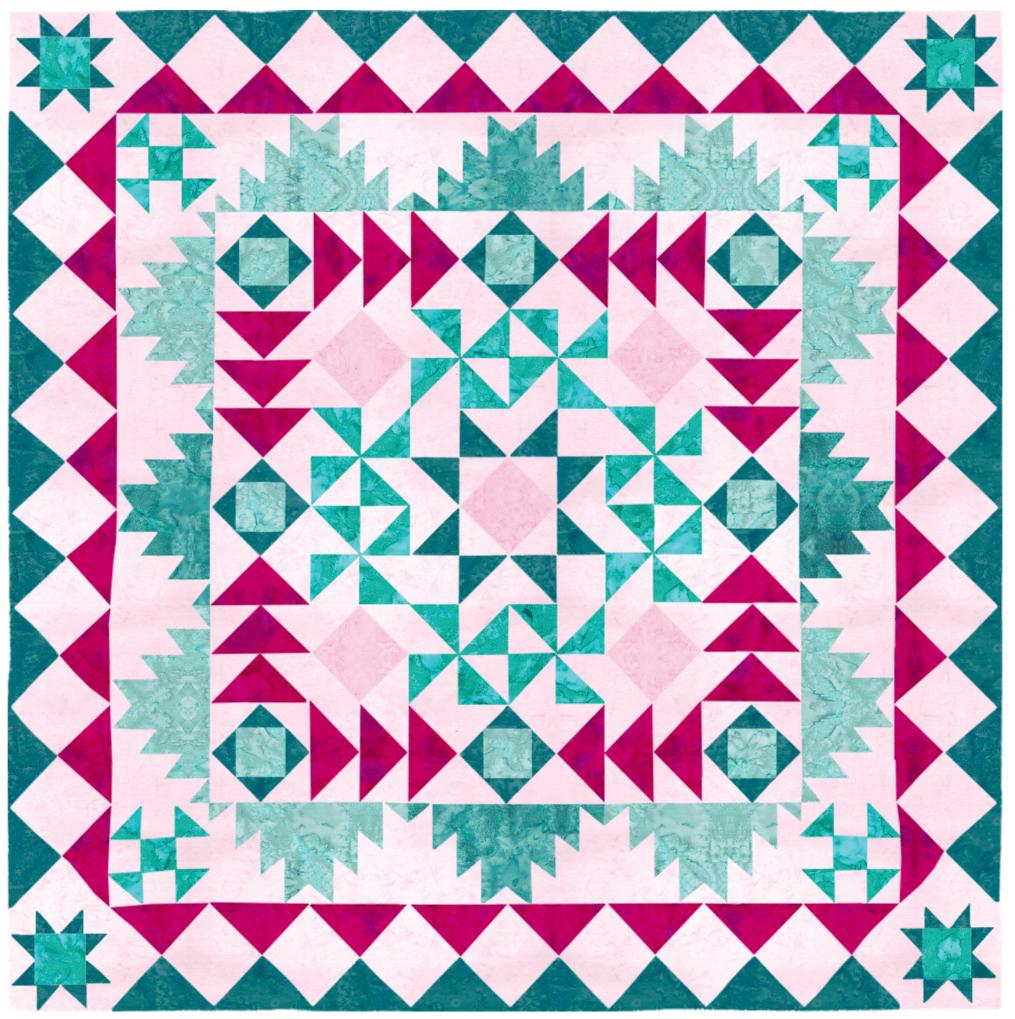 Beyond Squares Pinks & Teals SAL Kit
