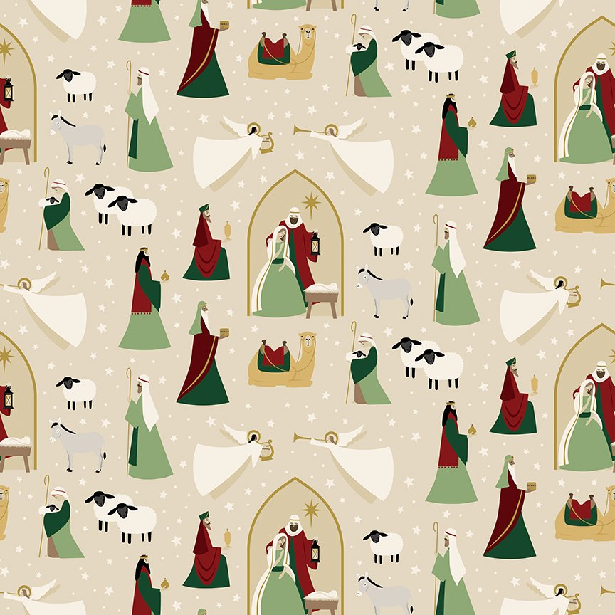 Oh Holy Night - Main - Linen Sparkle