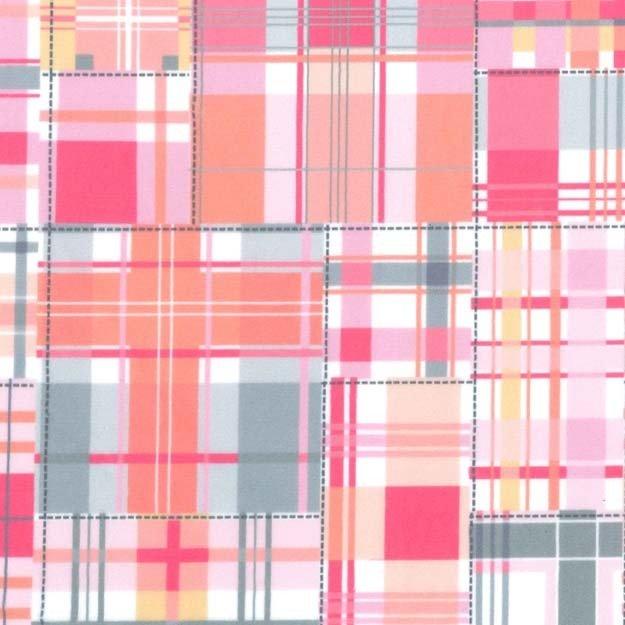 Madras Patch - Pink