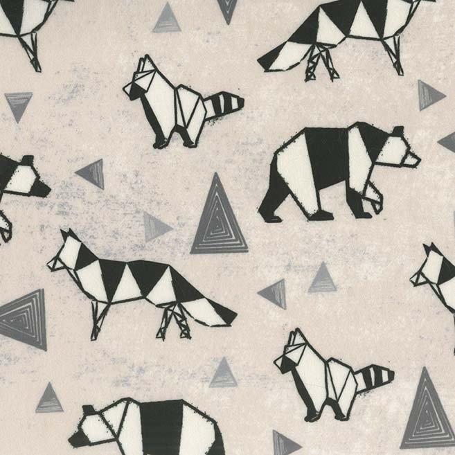 Origami Forest - Wild - Minky