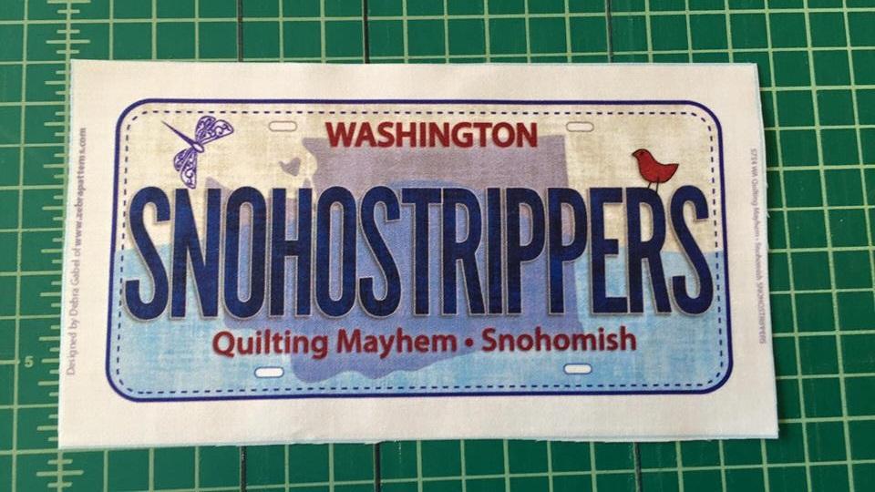 SnohoStripper License Plate