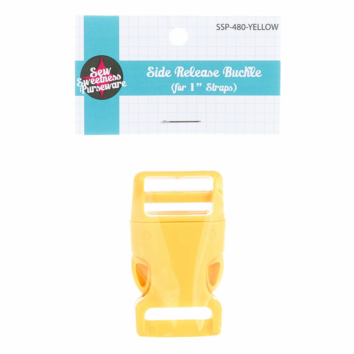 Side-Release Buckle -Yellow 1-inch