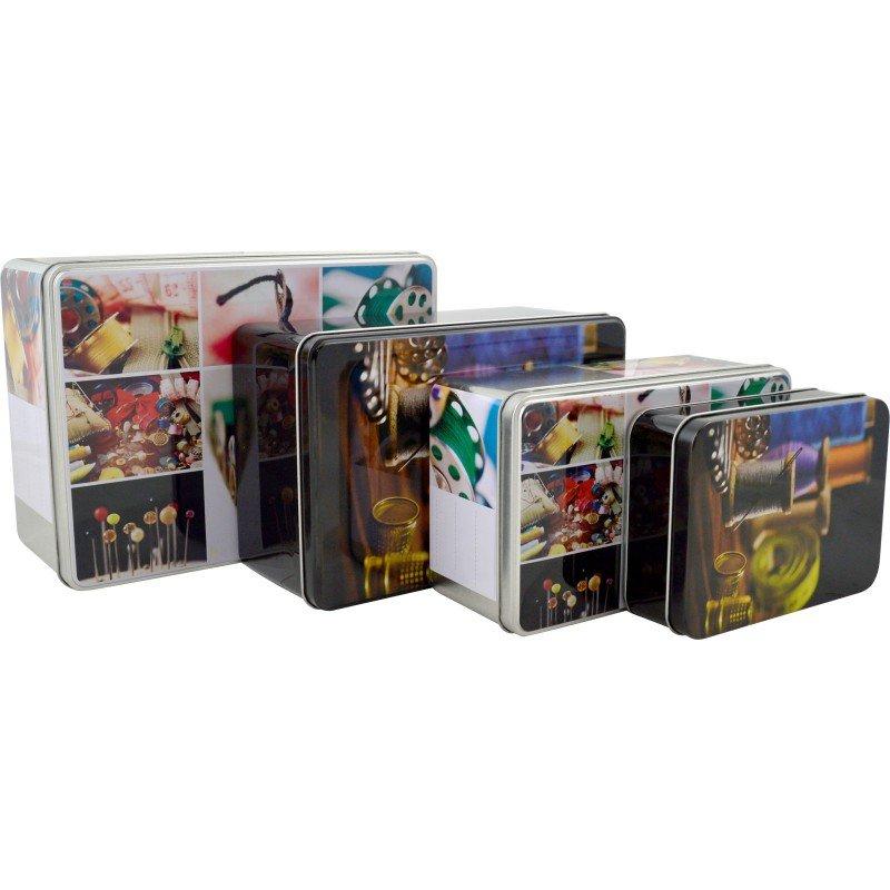 Sewing theme tins (set of 4)