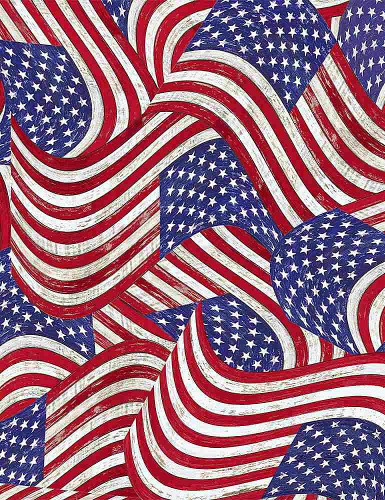 Packed Flags on Wood