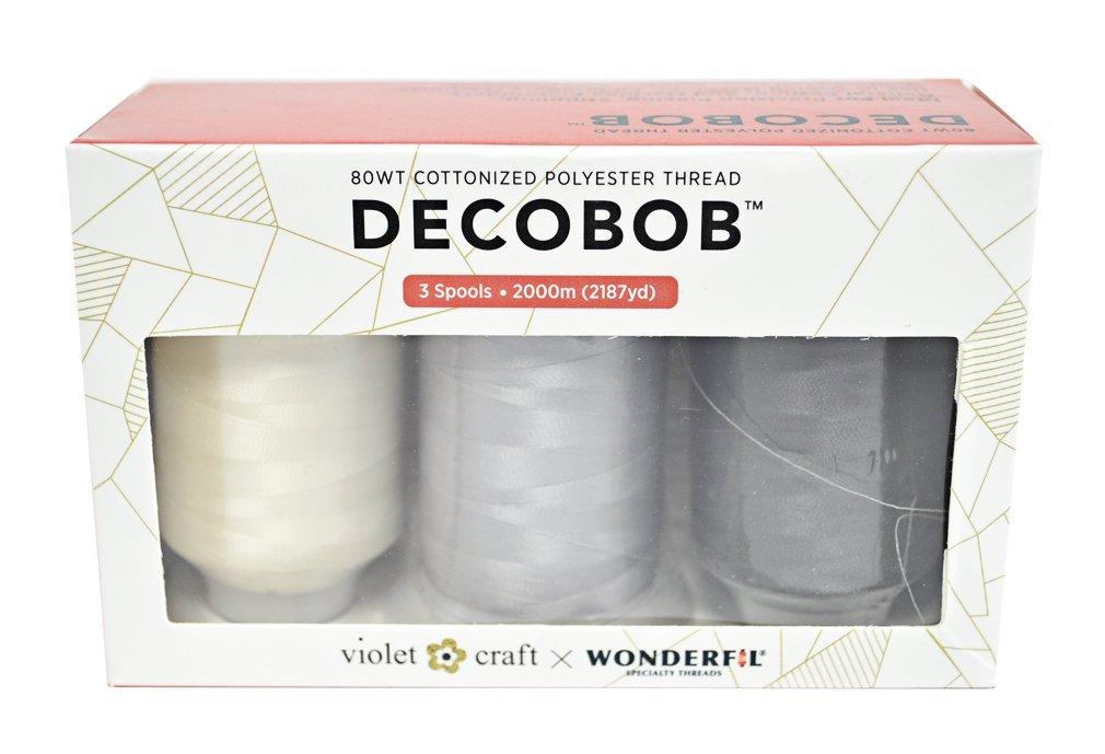 DecoBob Thread 3 pk Neutrals Violet Craft