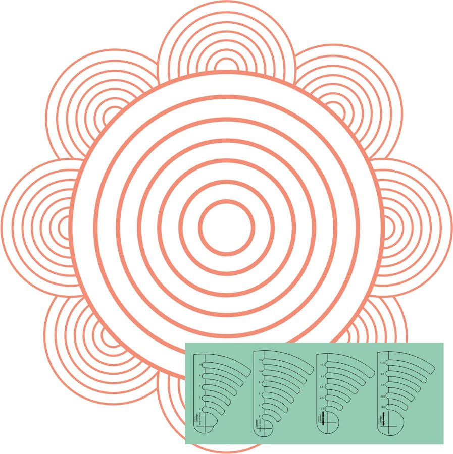 Westalee - Circles on Quilts Template Set 3 - High Shank