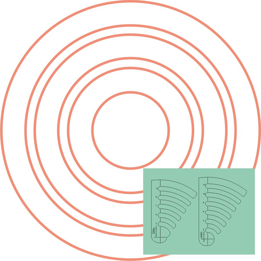 Westalee - Circles on Quilts Template Set 1 - Low Shank