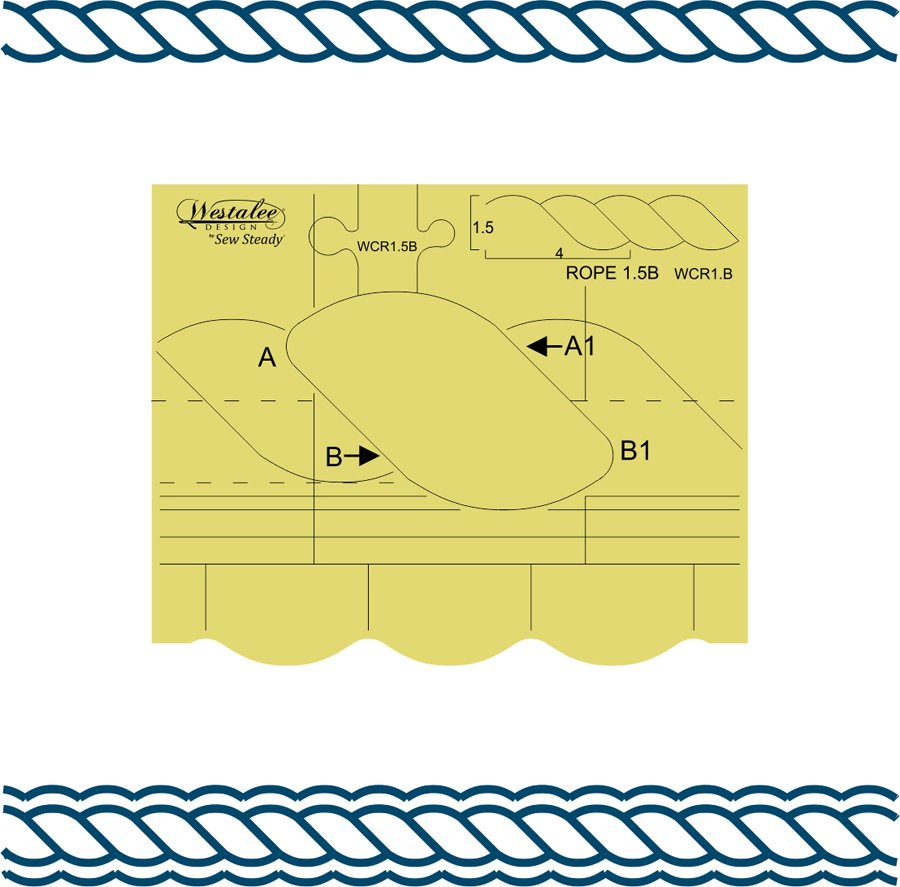 Westalee Continuous Rope & Echo Template 1.5B - High Shank