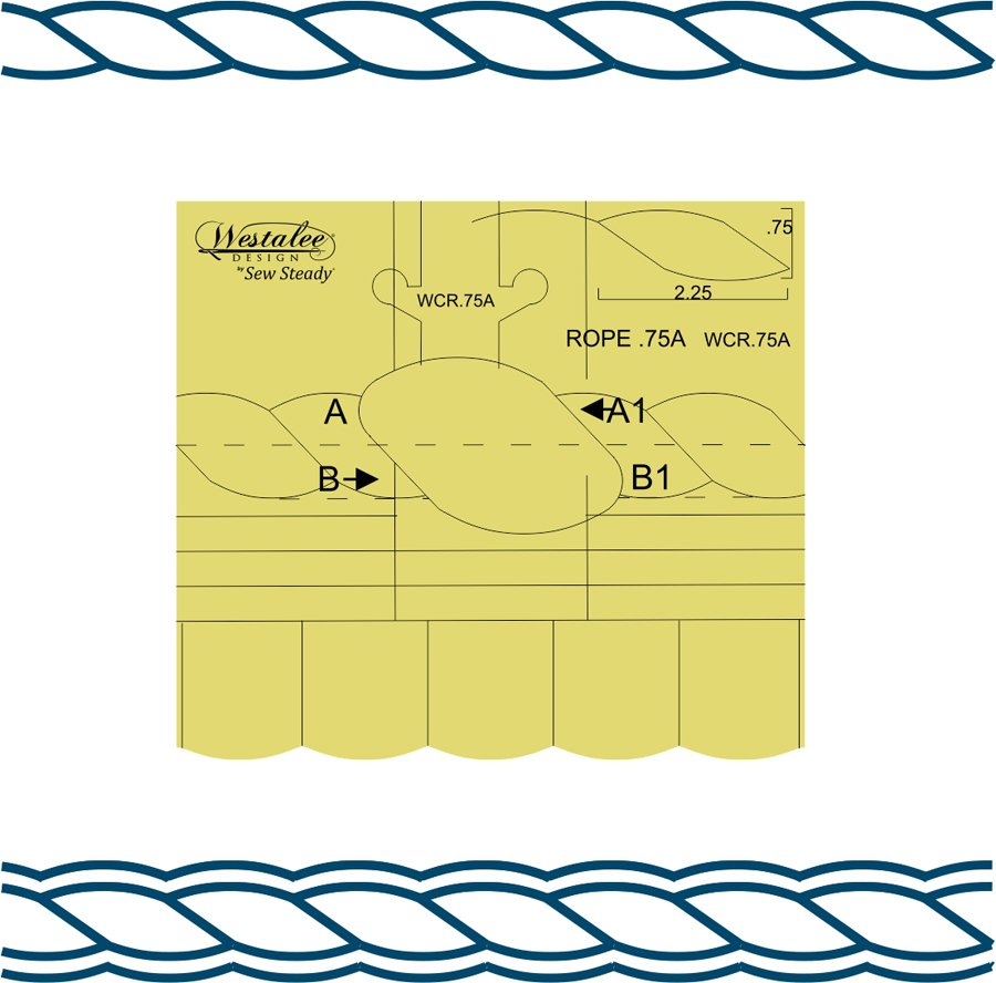Westalee Continuous Rope & Echo Template .75A - High Shank