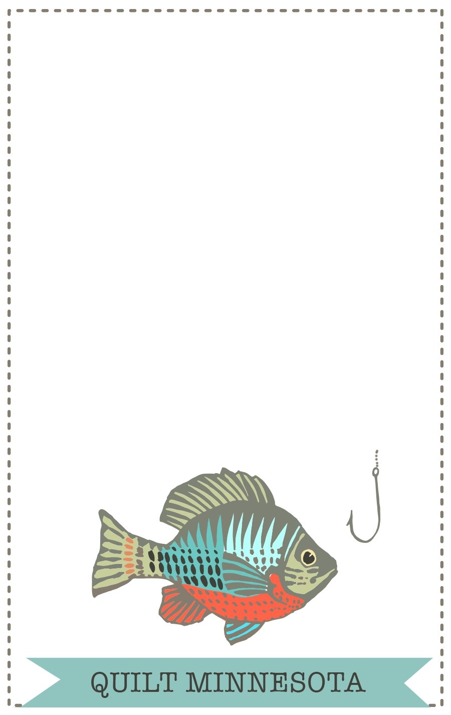 2016 Quilt Label, Fish