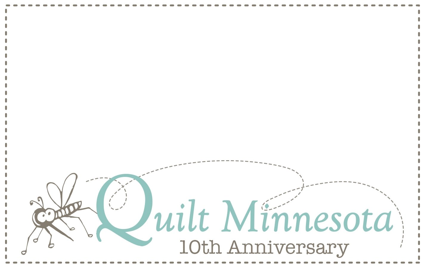 2016 Quilt Label, Mosquito Anniversary
