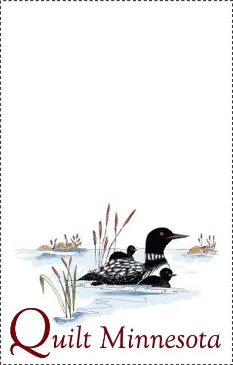 2015 Quilt Label, Loons
