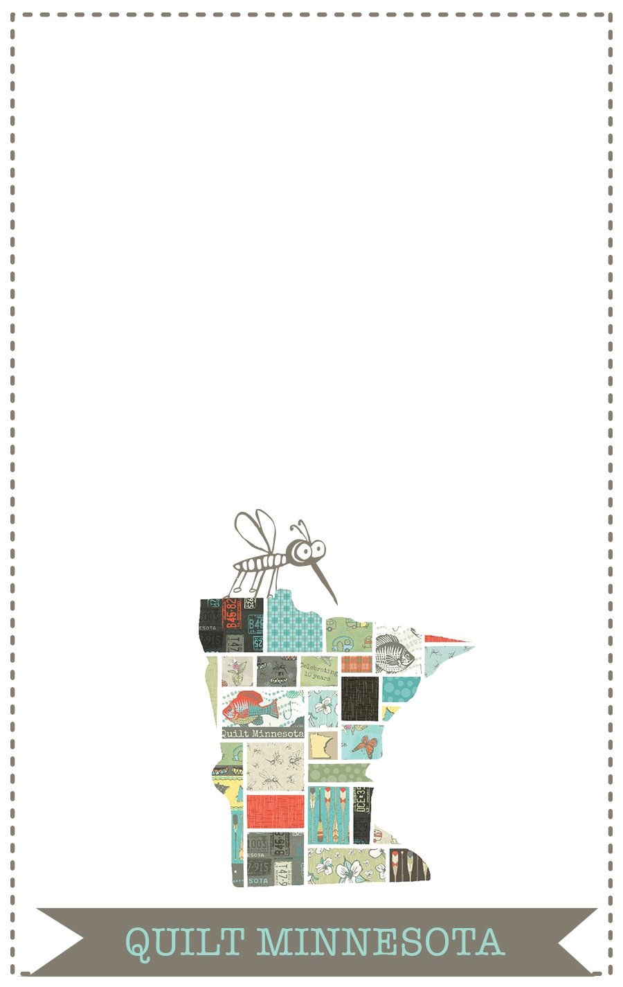 2016 Quilt Label, State/Mosquito