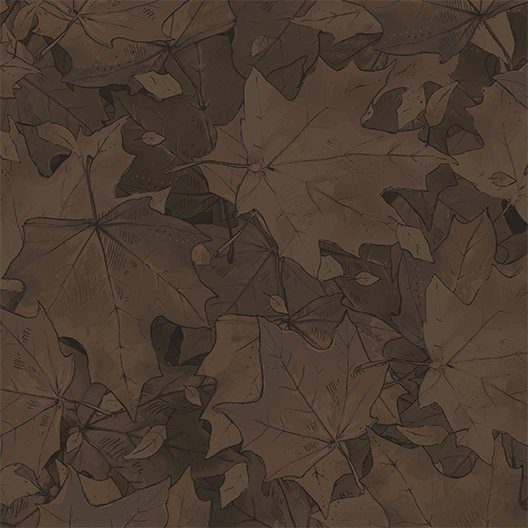 Leaves Dark Brown (Y2191-16)